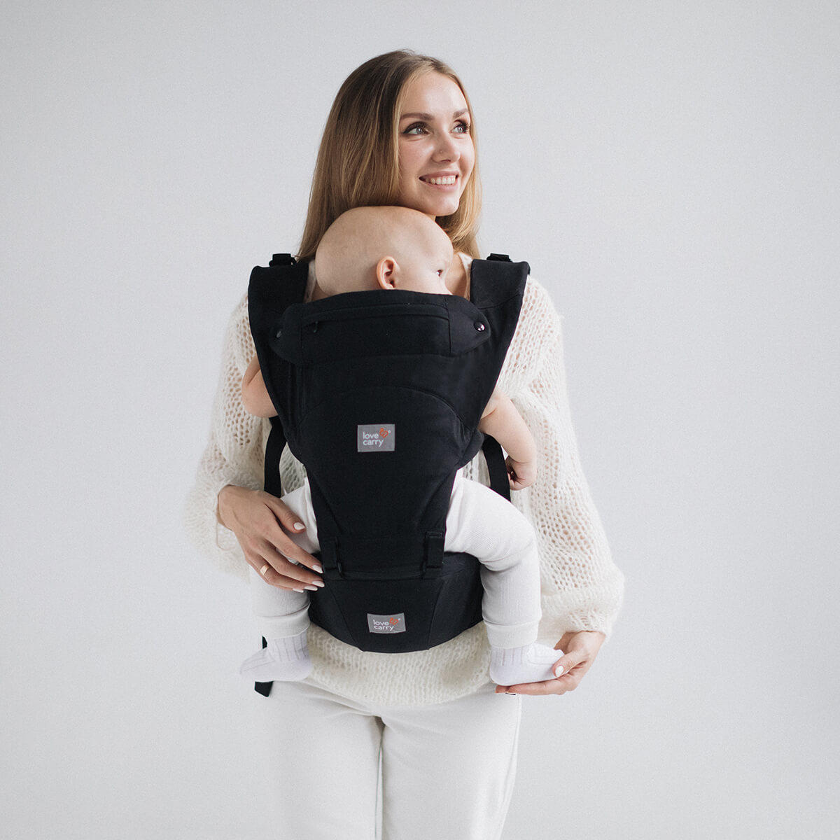 Love Carry Hipseat Baby Carrier Black