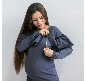 Світшот з рюшами для вагітних та годуючих мам 20ef7345ba415
